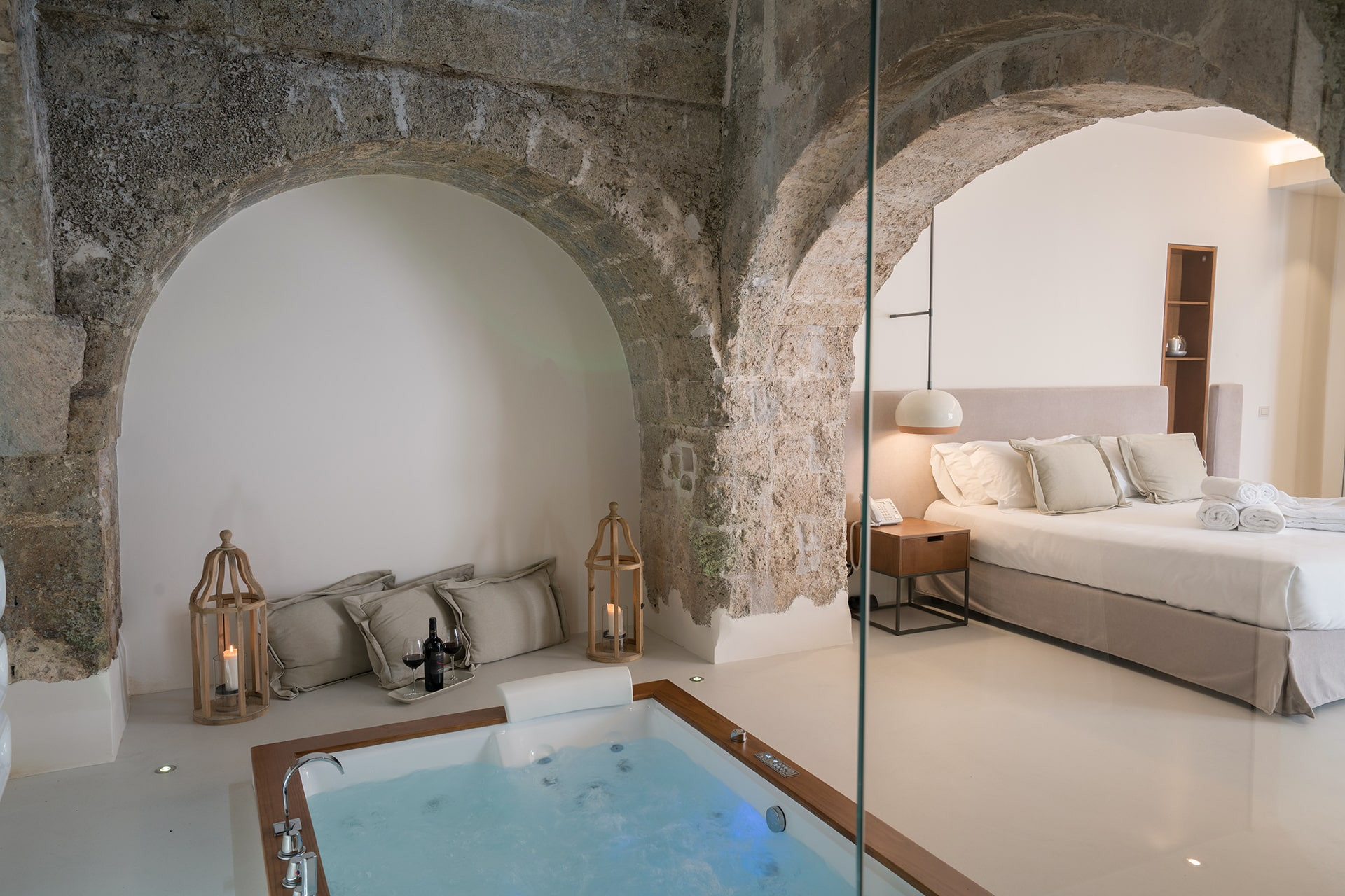 Masseria Amastuola: Suite con vasca idromassaggio